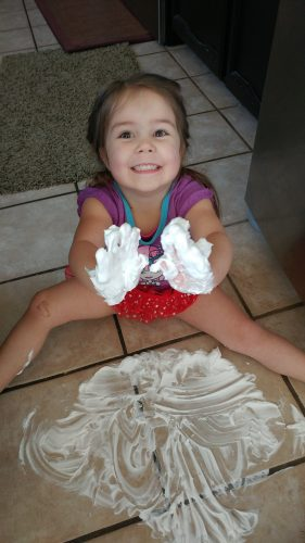 Shaving Cream Painting. Good, messy fun!